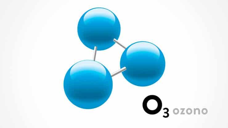 molécula de ozono
