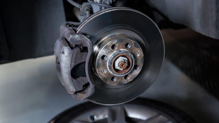 frenos de coche con sistema abs