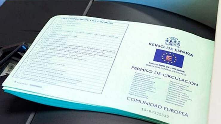 documentación permiso circulación coche